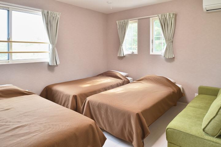 清潔なベッドルームでゆっくりお休みください!